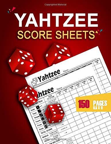 Yahtzee Score Sheets: 150 Yahtzee Game Record Score Keeper Book | Large print Yahtzee Score Pads | Yatzee Score Cards