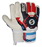 Select 99 Goalkeeper Gloves with Finger Protection, Blue/Red/White, Size 7