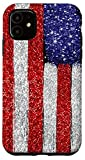 iPhone 11 4th Of July Girls Bling Stuff PICTURE PRINT - American Flag Case