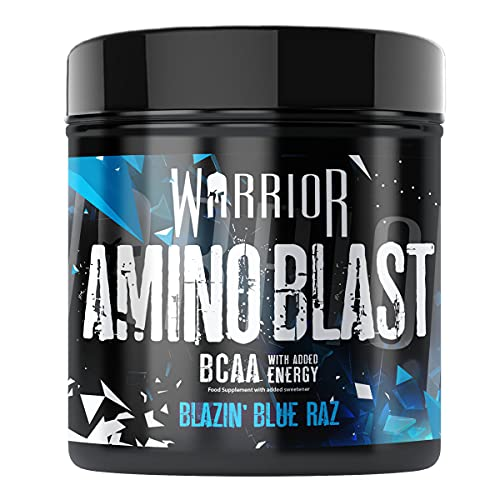 Warrior Supplements Amino Blast BCAA Powder Amino Acids 270g - Blue...