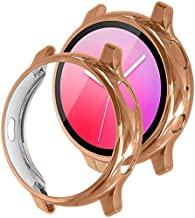 [2 Pack] Tensea Compatible with Samsung Galaxy Watch Active 2 Screen Protector Case 44mm 40mm, Soft TPU Bumper Full Around...