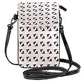 XCNGG Monedero pequeño para teléfono celular Love Heart Valentine Cell Phone Purse Wallet for Women Girl Small Crossbody Purse Bags