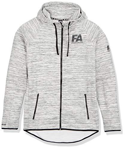 FA Sportswear Hoodie Jacket Men Basic Melange Light Grey - XL - Trainingsjacke - Kapuzenjacke