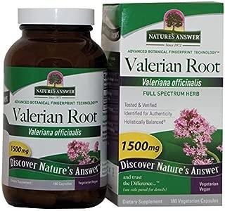 NATURE'S ANSWER, Valerian Root - 180 caps