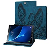 Rostsant Hülle Samsung Tab S2 9.7 Zoll PU Leder Schutzhülle Geprägter Schmetterling Brieftasche Etui mit Stifthalter Tablet Hülle für Samsung Galaxy Tab S2 9.7