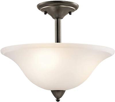 Kichler 42879OZ Nicholson Semi-Flush 3-Light, Olde Bronze