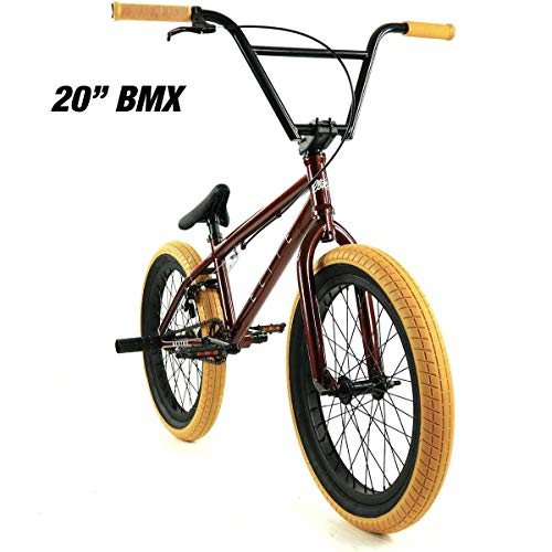 "Elite 20"" & 18"" BMX Bicycle Destro Model Freestyle Bike - 4 Piece Cr-MO Handlebar (20"" Copper)"