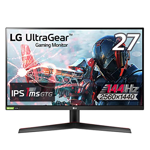【Amazon.co.jp 限定】LG フレームレス ゲーミングモニター 27GN800-B 27インチ/WQHD(2560×1440)/IPS非光沢/144Hz/1ms(GtoG)/G-SYNC Compatible,FreeSync Premium/HDR/HDMI×2,DP