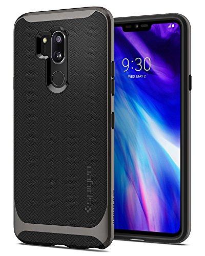 Spigen [Neo Hybrid LG G7 ThinQ Hülle (A27CS23037) Doppelschichter Schutz 2-teilige Premium Handyhülle Silikon TPU Schale + PC Farbenrahmen Dual Layer Schutzhülle Für LG G7 Plus ThinQ Hülle [Gunmetal]