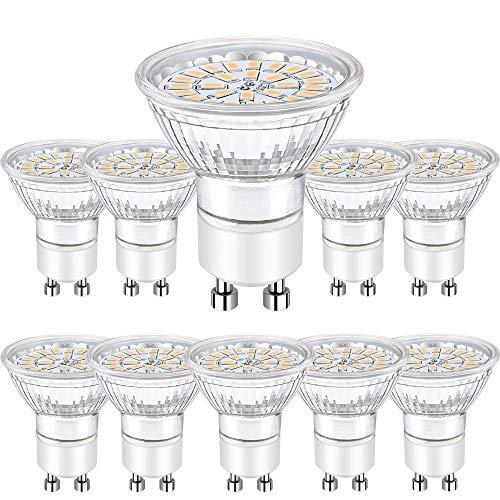 GU10 LED Warmweiss, Bombubilla 10er LED GU10 Lampe 5W Ersetzt 50W 35W GU10 Halogenlampe 450lm 3000K AC 220V-240V 120°Abstrahwinkel LED Birnen LED Leuchtmittel