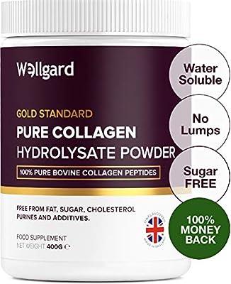 Collagen Powder, Gold Standard Bovine Collagen Peptides Powder by Wellgard - High Levels of The 8 Essential Amino Acids, Collagen Supplement, Made in UK