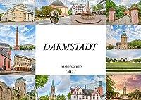 Darmstadt Stadtansichten (Wandkalender 2022 DIN A2 quer): Es erwarten Sie einmalig wunderschoene Aufnahmen von Darmstadt (Monatskalender, 14 Seiten )