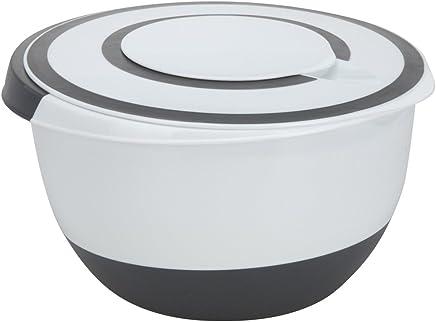 BBTrade Sales Rührschüssel 5 Liter Deckel Rühröffnung Stoppboden Schüssel 5L Frischhaltedose preisvergleich bei geschirr-verleih.eu
