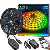 DreamColor LED Strip Lights, MINGER 9.8FT LED Lights Music Sync, Waterproof RGB Rope Light APP…