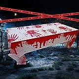 Weekend&Lifecan Halloween Mantel, Mantel Sangriento, Halloween Mantel Sangriento, Terror decoración para Halloween para Suministros de Fiesta Accesorios de casa embrujada (tablecloth-1pack-orange)