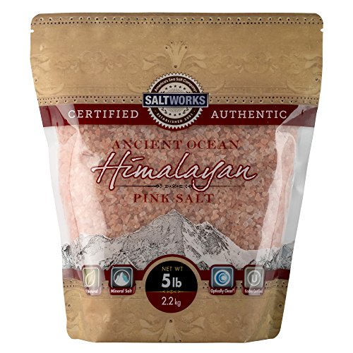 SaltWorks Ancient Ocean Himalayan Pink Salt, Coarse Grain, 5 Pound Bag