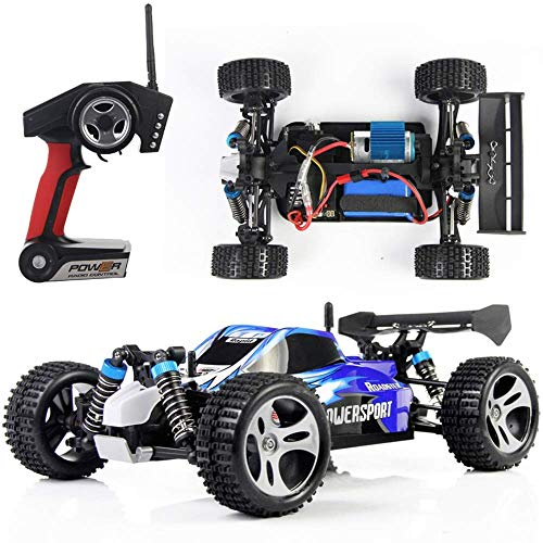 Mengen88 1:18 Scale All Terrain RC Car 18859E, 30+MPH High Speed 4WD Electric Vehicle Waterproof Off-Road Truck Inclusief batterij en oplader met 2,4 GHz Radio Controller