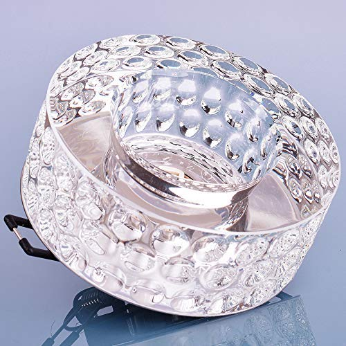 Glas Einbaustrahler mit G9 Fassung 230V Spot Deckenleuchte Deckenspot Einbauleuchte Kristall Einbauspot, Design 13 (Design 13)