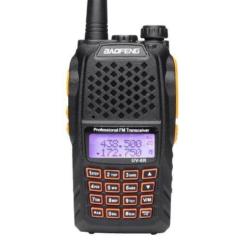 Baofeng UV-6R Walk Talk Dual Band VHF UHF FM Radio Communicator + Headphone