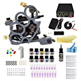 Wormhole tattoo Complete Tattoo Kit 1 Pro Machine kit Tattoo Guns kit 10 Inks Power Supply Foot Pedal Needles Grips Tips SL-TK033