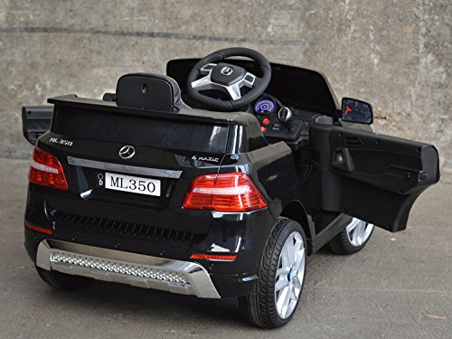 RC Auto kaufen Kinderauto Bild 3: Mercedes Benz ML 350 Kinder Elektro Auto - Original Lizenz Daimler - Vollausstattung - LED Beleuchtung - Vollgummi - USB - Bluetooth - Kinderauto*