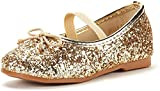 DREAM PAIRS Toddler Belle_01 Gold Girl's Mary Jane Ballerina Flat Shoes Size 10 M US Toddler