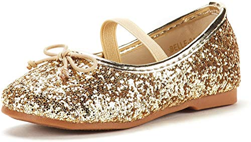 The Children's Place Baby-Girl's TG LACE-UP June Ballet Flat, Rose Gold, TDDLR 9 Toddler US Toddler