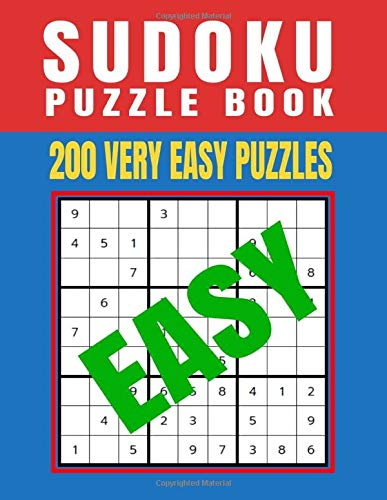 Sudoku Puzzle Book 200 Very Easy Puzzles: Sudoku Puzzle Activity Book Gift for Kids, Teens, Senions, Grandma, Grandpa, Mom, Dad - 8.5x11 (200 Very Easy Sudoku Puzzles)