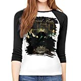 Nathalie R Salmeron Rascal Flatts Woman's Raglan 3/4 Sleeved Round Neck T-Shirt Women Baseball Shirt Fashion Clothing XXL Black