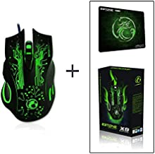 Estone x9 2400DPI LED Optical 6D USB Wired game Gaming Mouse gamer wow dota2 high quality For PC computer Laptop perfect upgrade combine x5 x7+gift Mat