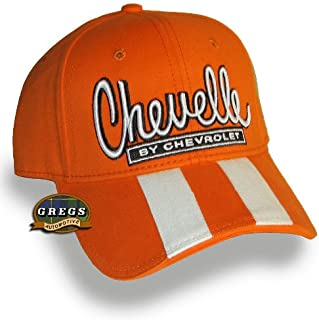 Chevelle Hat Rally Stripe Cap Orange - Bundle with Driving Style Decal
