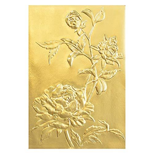 Sizzix Carpeta de Repujado Texture Fades 3D 664189 Rosas by Tim Holtz, Multicolor, Talla única
