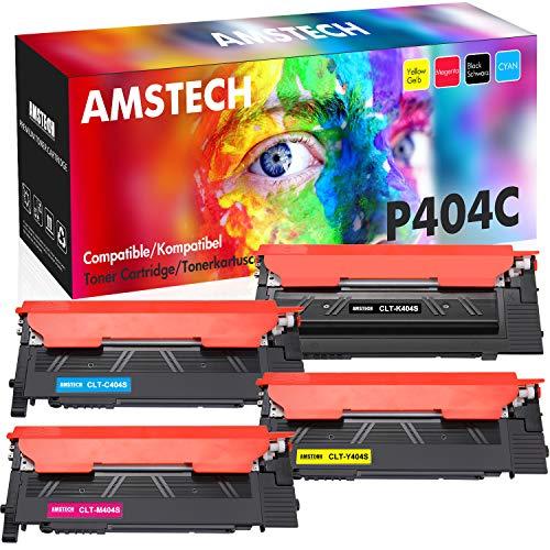 Amstech Compatibile per Samsung CLT-K404S CLT-404S CLT-P404C per Toner Samsung Xpress C480FW C480W C430W C480 C430 C480FN C482 C482W C482FW C432 Samsung SL-C430 SL-C480 CLT-C404S CLT-M404S CLT-Y404S
