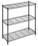 Whitmor Supreme Leveling Feet 350 Capacity Per Shelf Adjustable Shelves, 3 TIER, Black