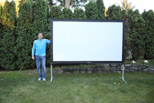 Visual Apex projectoscreen132hd al aire libre proyector pantalla