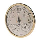 BEKwe Colgante de la estación meteorológica del higrómetro del termómetro del barómetro del hogar montado en la Pared