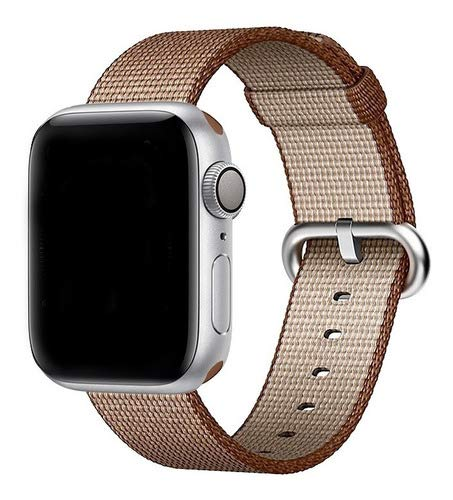 Pulseira Nylon, compatível com Apple Watch (Marrom Café, 42mm)