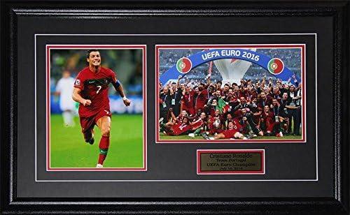Midway Memorabilia Cristiano Ronaldo 2016 Team Portugal UEFA European Cup Champions 2 Photo product image