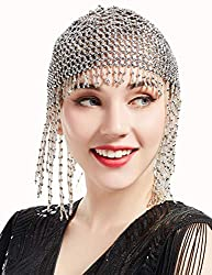 gatsby themed headwear with beads