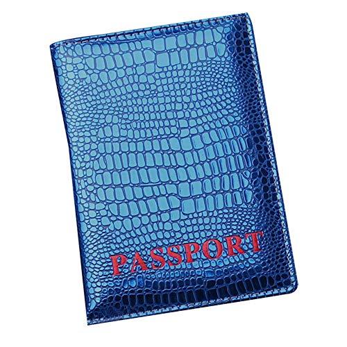 [スーツケースカンパニー]GPTパスポートケース カバー クロコ型押し クロコダイル おしゃれ アウトレット ブルー