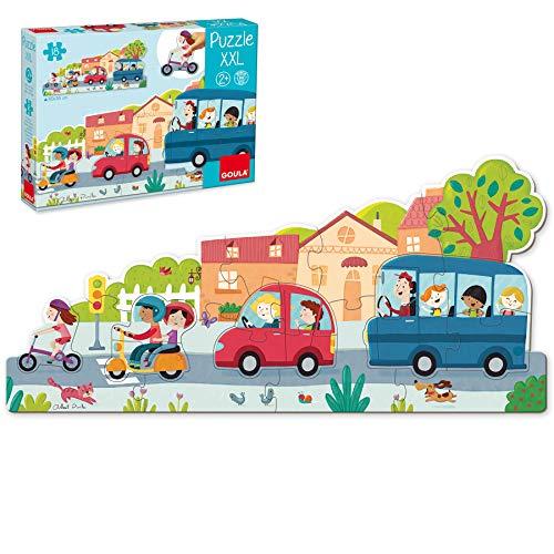 Oferta de Goula- Vehiculos Puzzle XXL, Multicolor (453428)