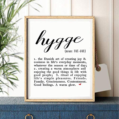 Hygge Print Definition Scandinavian Poster Modern Minimalist Inspirational Quotes Canvas Painting Wall Art Picture For Bedroom Home Decor 50x70cmx1 Sin Marco