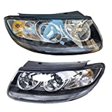 Best Headlights - Headlights Headlamps Pair Set Chrome Housing Clear Lens Review