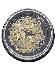 JIACUO 120 Piezas Mixtas Steampunk Engranaje Engranaje Encanto Reloj Marco UV Resina Rellenos DIY