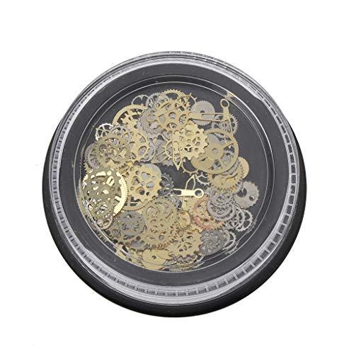 Angelliu - Stampo in resina epossidica, fai da te, 60 pezzi misti steampunk, ruota il telaio UV di Charme di mano di ingranaggi in silicone, resina e resina
