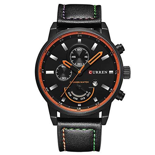 Men's Fashion Casual Sport Quartz Watch Mens Watches Top Brand Luxury Leather Drop Shipping Wristwatch Male Clock CURREN 8217