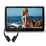 naviskauto 101 tablet style car headrest dvd player plug and play rear seat entertainment system with usbsdhdmi port