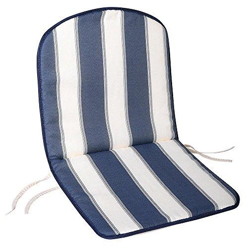 SATURNIA 8097510 Cojin Azul/Blanco Silla Monoblock Respaldo Bajo 80x42x2 cm