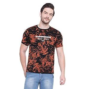 Monte Carlo Men's Printed Slim Fit Cotton Blend T-Shirt 4 51oHXPaRO2L. SS300