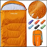 FARLAND Rectangular Sleeping Bag 0 Degree centigrade 20 Degree ℉,Cold Weather 4 Season for Adults, Youth, Kids, Unisex for Camping, Hiking, Waterproof, Traveling, Backpacking and Outdoors